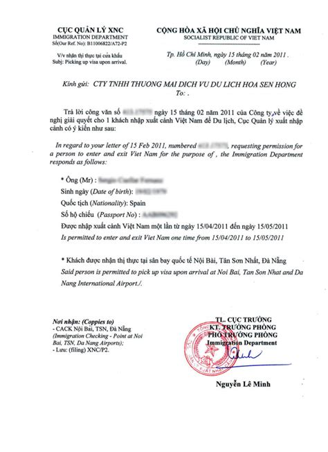 Invitation Letter For Visa On Arrival Thailand Visa Visa For
