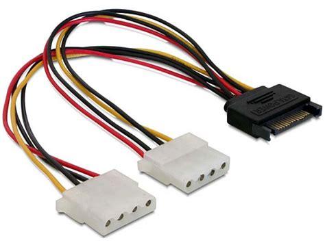 Kabel 4 Pin Molex To 2x Fdd Power High Quality sata to 2 molex power cable converter splitter ebay
