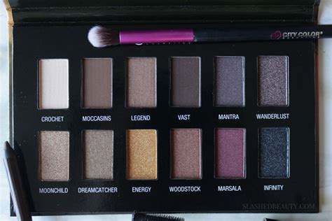 City Color Perfecting Palette Medium To review city color cosmetics boho chic palette slashed