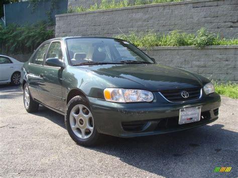 2001 Toyota Corolla Green 2001 Woodland Green Pearl Toyota Corolla Le 33237155