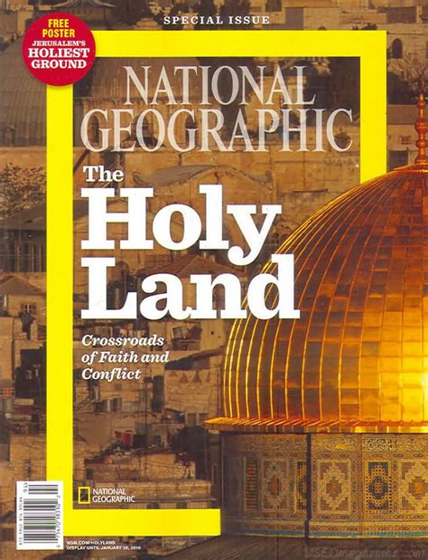 National Geographic Ind Maret 2009 backissues national geographic the holy land crossroads of faith and conflict special