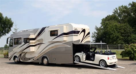 vario platinum motorhome with mini cabrio garage