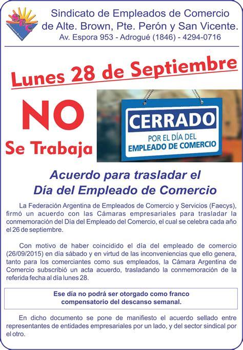 dia del empleado de comercio d 237 a del empleado de comercio sindicato de empleados de