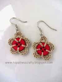 free crochet pattern heart earrings over 100 free crochet earring projects tutorials and