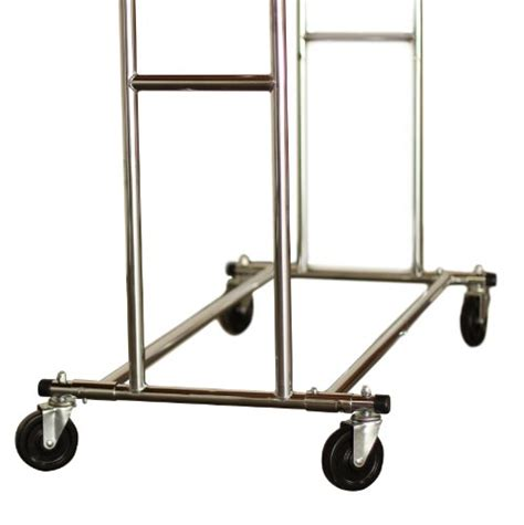 industrial rolling racks decobros supreme commercial grade double rail garment