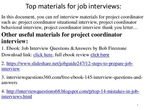 top 36 project coordinator questions and answers