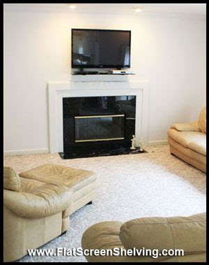 mounting flat screen tv above fireplace the floating shelf mounts fireplace