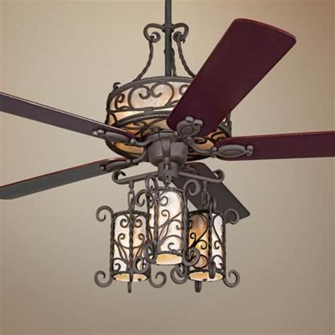 ceiling fan in spanish 60 quot john timberland 174 seville iron ceiling fan with remote