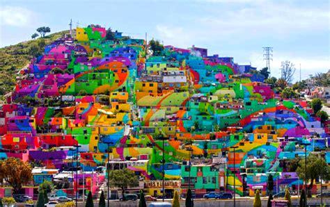 colorful houses painting pachuca paints itself a barrio neighborhood becomes