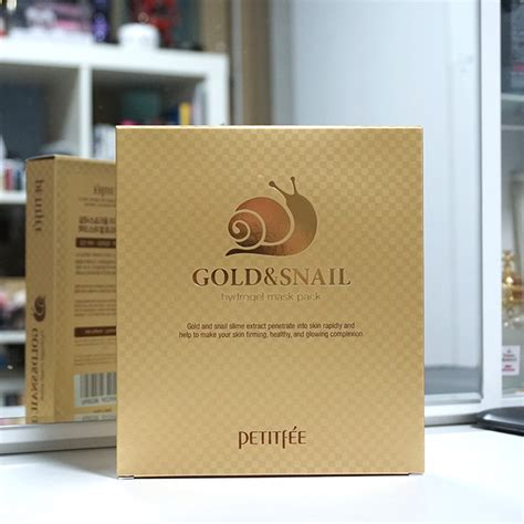 Mask By Snail petitfee gold snail mask pack review