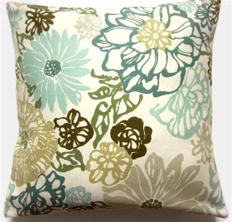 throw pillows for green couch decorative pillow cover teal mint green olive green brown