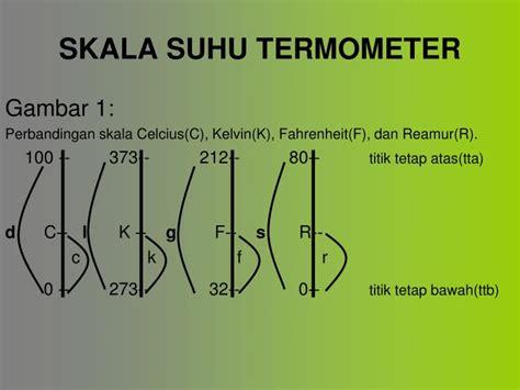 Termometer Skala 100 ppt suhu dan kalor powerpoint presentation id 4380346
