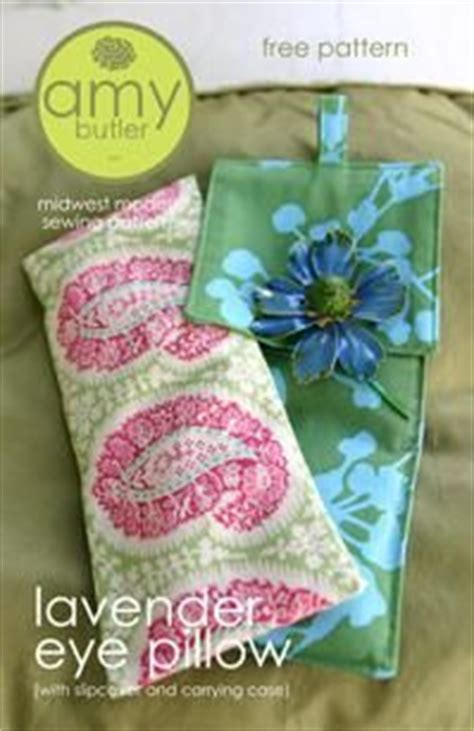 free pattern from butler lavender eye pillow and