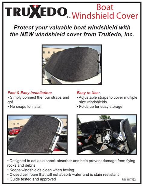 truxedo boat windshield cover outdoor supply - Truxedo Boat Windshield Protector
