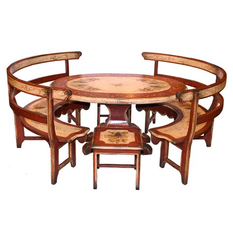 Kitchen Tables Furniture Painted Country Kitchen Table Set