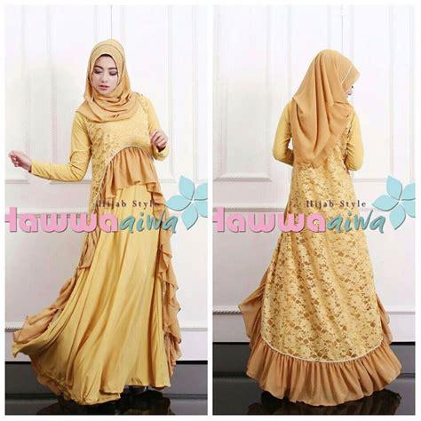 Jual Lu Terbaru by Gaun Model Gamis Pesta Muslim Brokat Lubella Hawwa Aiwa