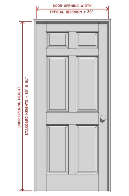 Standard Front Door Width by Interior Doors Interior Doors Standard Sizes