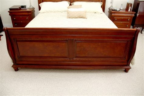 Cherry King Size Bed Frame Beautiful King Size Cherry Sleigh Bed Frame