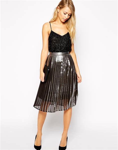 best 25 metallic pleated skirt ideas on
