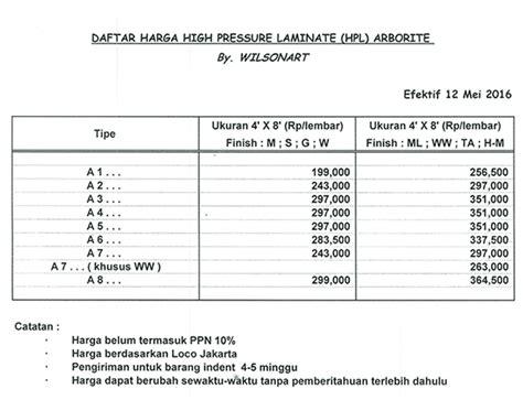 harga pattern concrete indonesia harga hpl arborite terbaru 2018 grahafurniture com