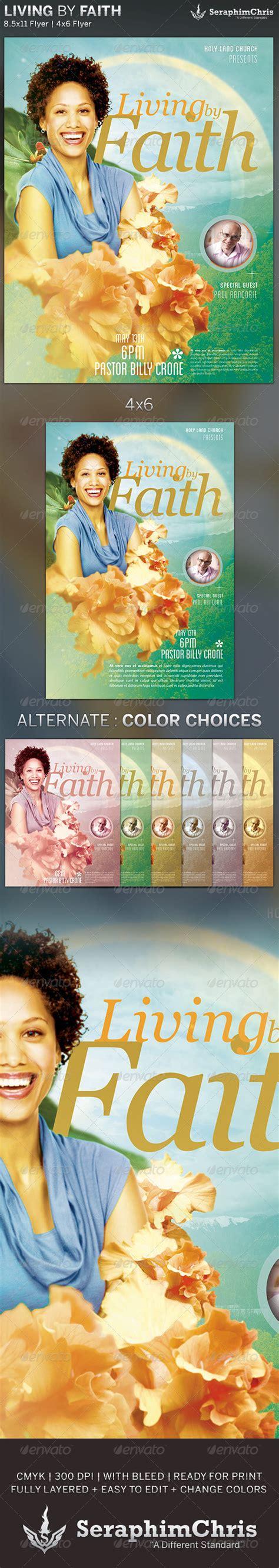 Living By Faith Church Flyer Template By Seraphimchris Graphicriver Living Flyer Template
