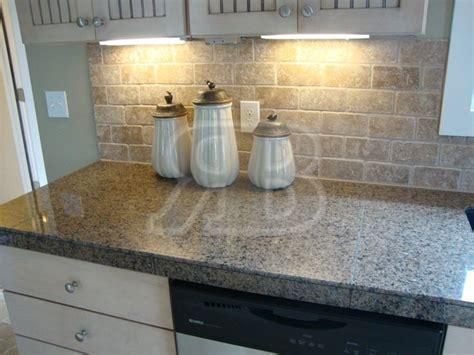 tile backsplash for kitchens with granite countertops granite tile countertops without grout lines desert brown 18x31 polished granite minislab