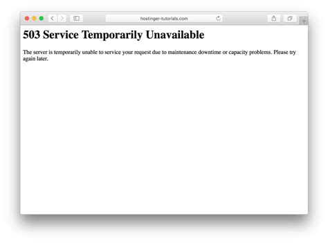 service unavailable how to debug and fix 503 service unavailable error in