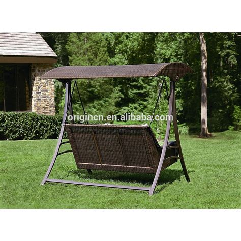 hanging patio swing 2016 england style rattan garden swing with canopy outdoor