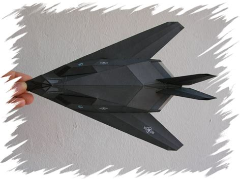 How To Make A Paper Nighthawk - paper f 117 nighthawk model