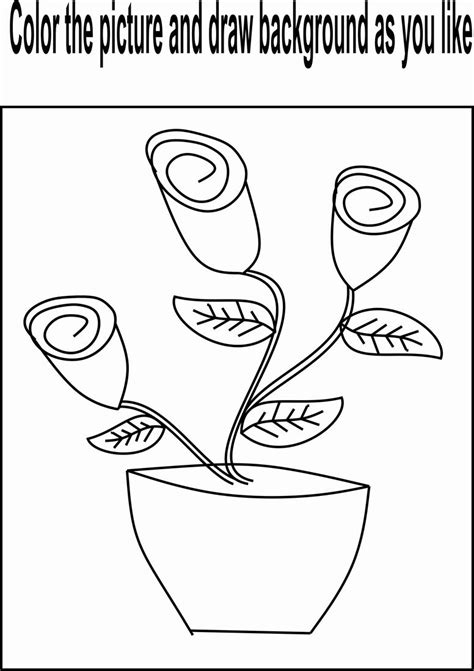 coloring page flower bud flower buds coloring page for kids
