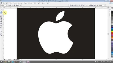 corel draw pdf vektorisieren apple logo design coreldraw tutorial youtube