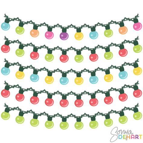 christmas lights curl clip art image clipartix