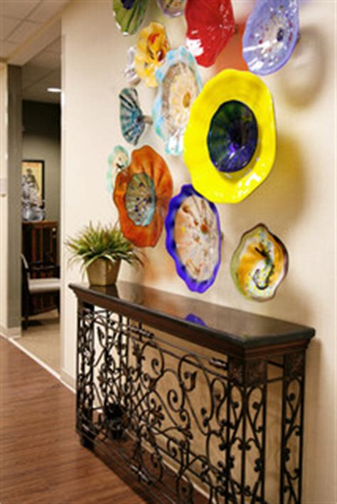wall candy dish  colorful glass art plates