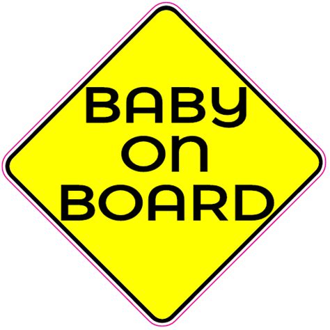 Baby On Board Aufkleber by Baby On Board Caution Sign Sticker U S Custom Stickers