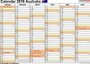 calendar template australia australia calendar 2016 free printable excel templates