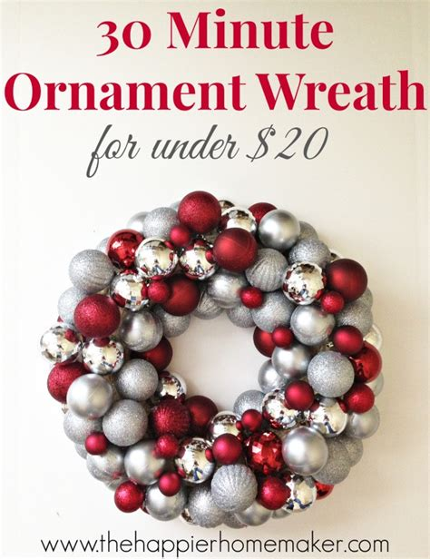 how to make an easy diy ornament wreath the happier