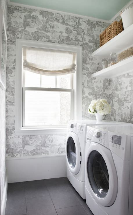 laundry room wallpaper wallpaper for laundry rooms transitional laundry room sherwin williams breaktime erin
