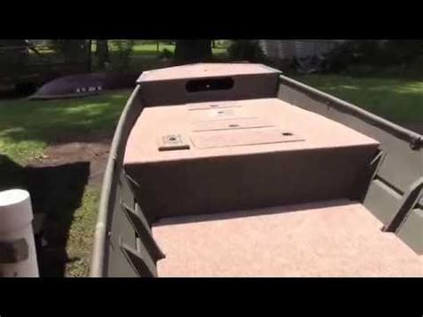 adding console jon boat 14 lowe jon boat decking part 6 the final frontier