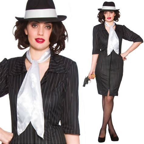 Ask Fashion About Mafia by Black Gangster Moll 20s 1920s Fancy Dress
