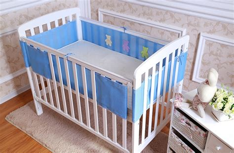 Crib Bedding Sets With Bumpers New Breathable Elastic 3d Mesh Baby Crib Bumper Baby Bedding Bumpers Baby Cot Sets Free Shipping