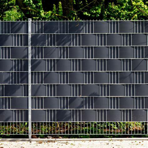 Balkon Sichtschutz 1m Hoch by Pvc Sichtschutzstreifen Doppelstabmattenzaun Anthrazit