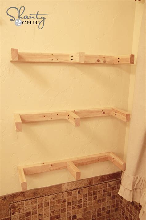 how to build floating shelves easy diy floating shelves shanty 2 chic