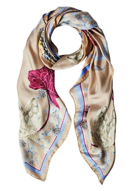 say something stylish with silk scarf mybestfashions