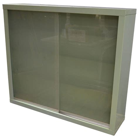 Sliding Glass Doors For Cabinets Dental Wall Cabinet With Sliding Glass Doors At 1stdibs