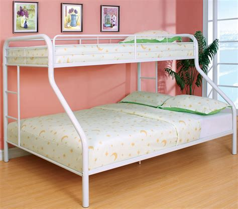 queen and twin bunk bed rainbow white twin over queen bunk bed cm bk1133wh