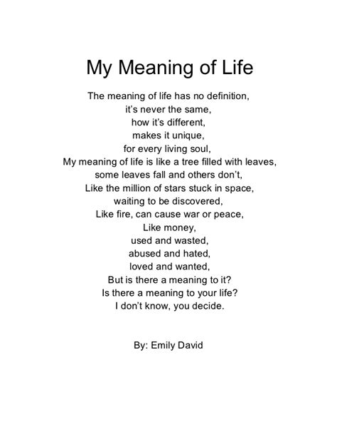 be my meaning my meaning of poem emily d