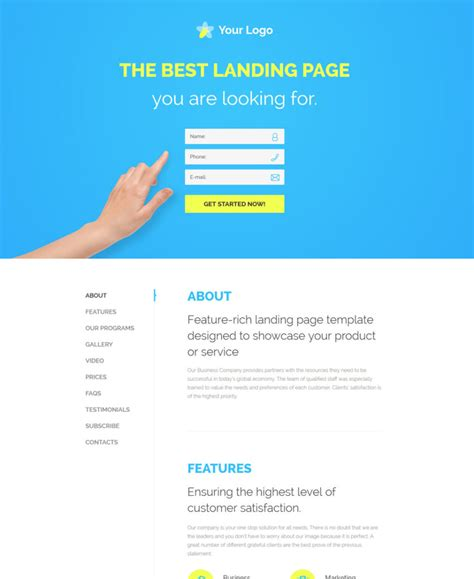 30 Of The Best Responsive Landing Page Templates For 2016 Web Design Ledger Create Free Landing Page Templates