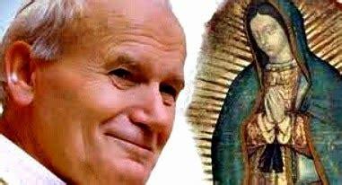 imagen virgen de guadalupe y juan pablo ii juan pablo ii inolvidable san juan pablo ii y la virgen