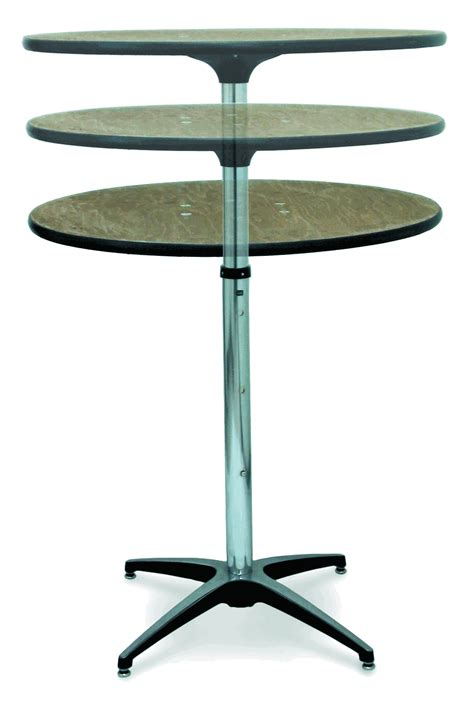 telescoping table mccourt telescopic plywood round pedestal table 36 inch