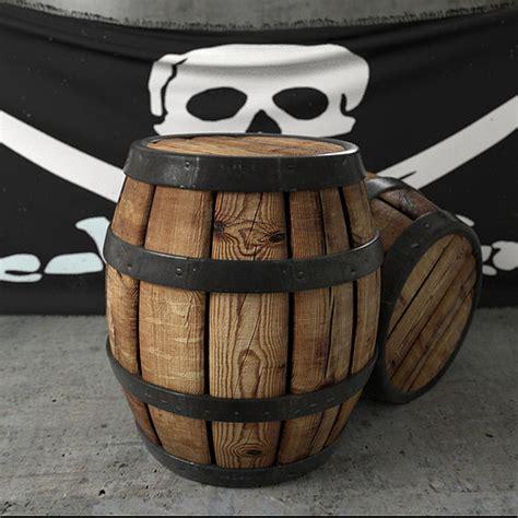 model pirate barrel cgtrader